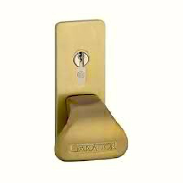 Garador brass effect handle and back plate for GRP & Timber panel garage doors