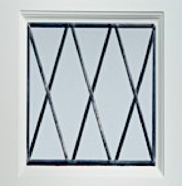 Diamond leaded Square leaded window for GRP garage doors