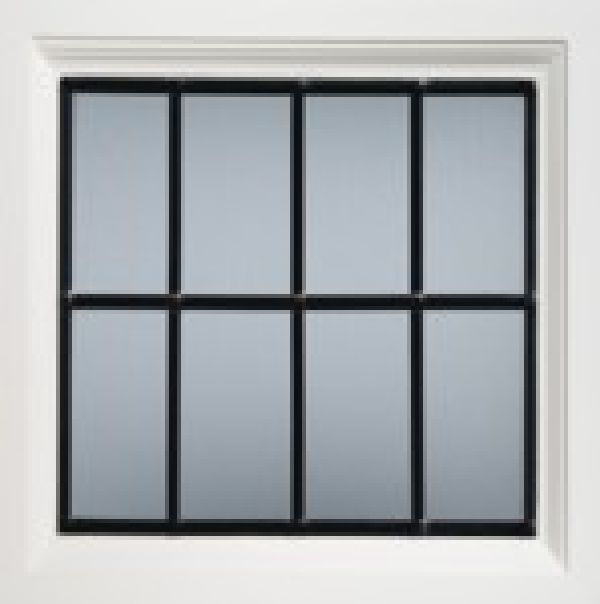 Square leaded window for GRP garage doors